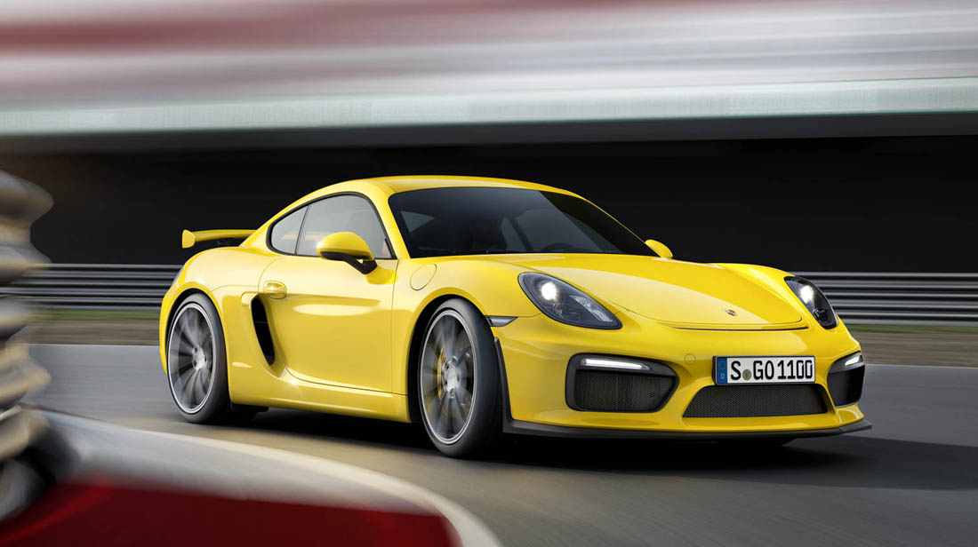 Porsche Cayman action