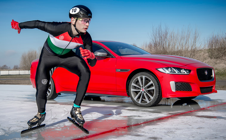 Jaguar ice track
